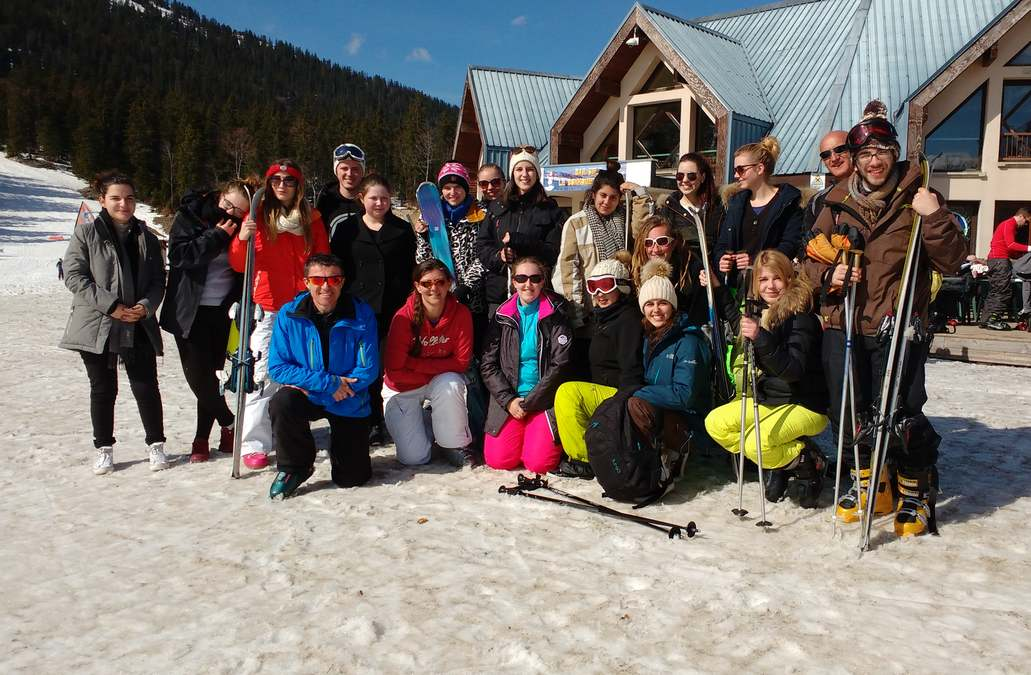 La classe de BTS 1 enflamme les pistes de ski !