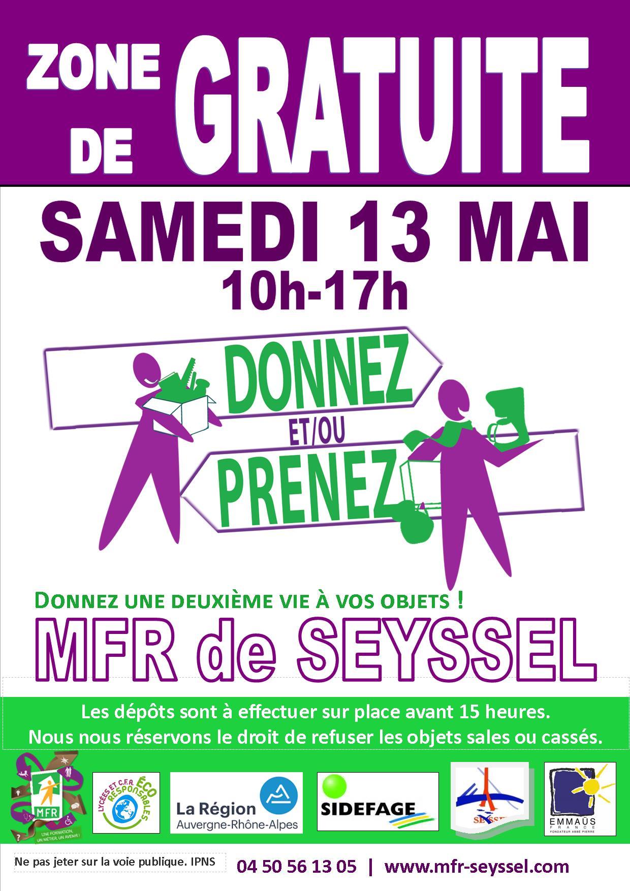 La zone de gratuité de la MFR de Seyssel, c'est bientôt !